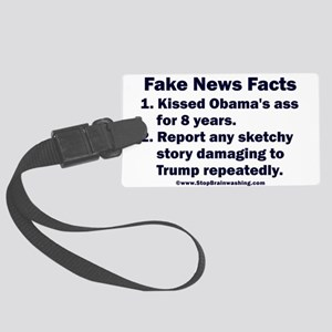 Fake News Facts Large Luggage Tag