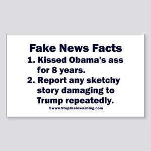 Fake News Facts Sticker (Rectangle)