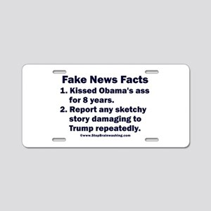 Fake News Facts Aluminum License Plate