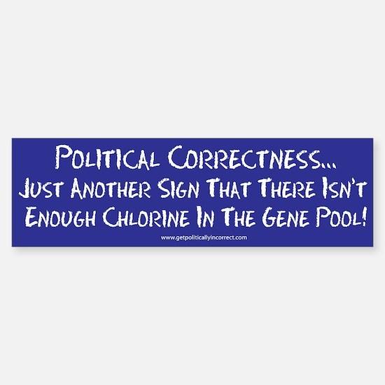 Political Correctness/Gene Po Bumper Bumper Bumper Sticker