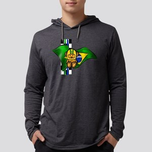 Brazil Racing Mens Hooded Shirt