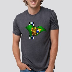 Brazil Racing Mens Tri-blend T-Shirt