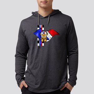 French Racing Mens Hooded Shirt