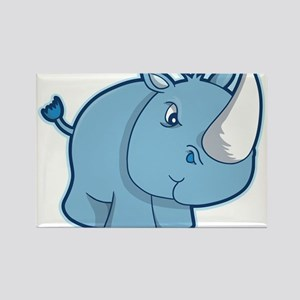 Blue Rhino Rectangle Magnet
