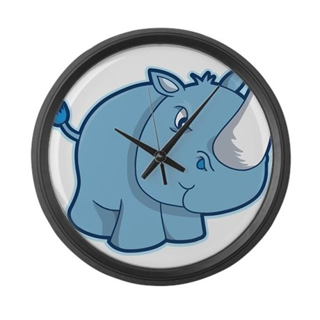 Blue Rhino Large Wall Clock