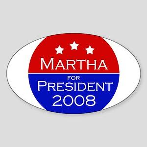 Martha for president Oval Sticker