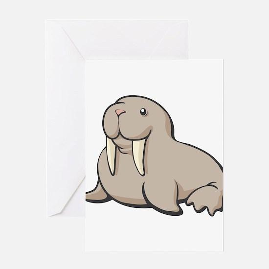 Cartoon Walrus Greeting Card