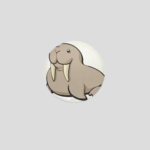 Cartoon Walrus Mini Button