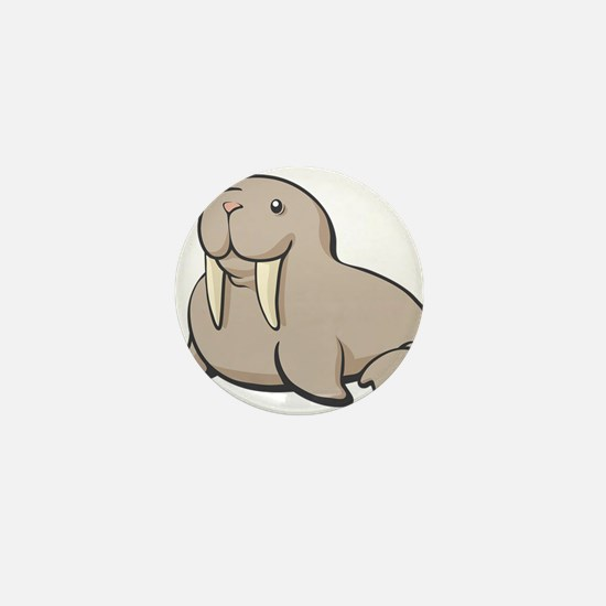 Cartoon Walrus Mini Button