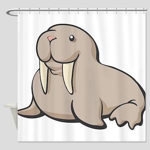 Cartoon Walrus Shower Curtain