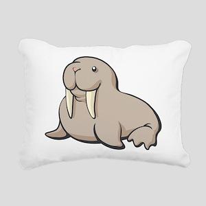 Cartoon Walrus Rectangular Canvas Pillow