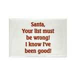 Santa's List is wrong I've been good Rectangle Ma
