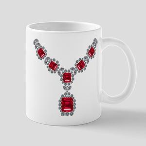 Ruby and Diamond Necklace Mug