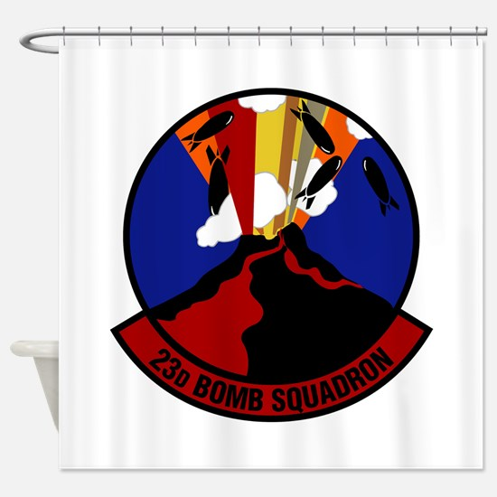 23rd Bomb Squadron Shower Curtain
