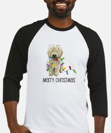 Doodle Christmas Lights Baseball Jersey