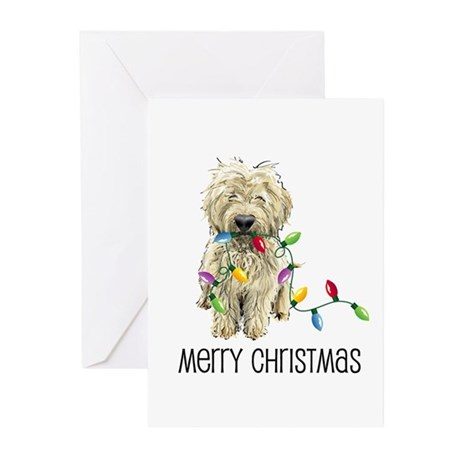 Doodle Christmas Lights Greeting Cards (Package of