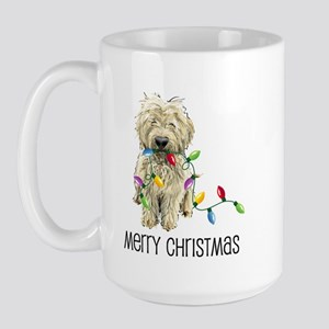 Doodle Christmas Lights Large Mug