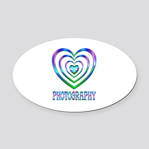 Photography Hearts Oval Car Magnet
