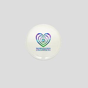Photography Hearts Mini Button