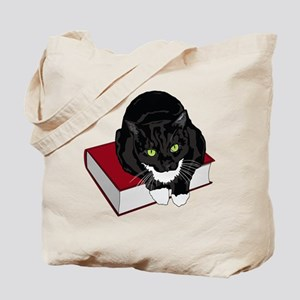 Tuxedo Cat Book Buddy Tote Bag