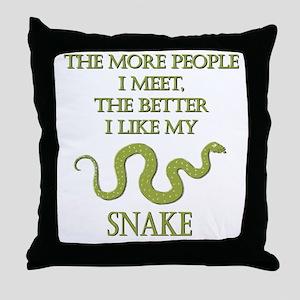 Like My Snake Throw Pillow