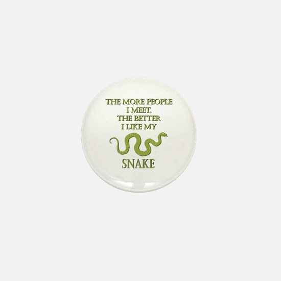 Like My Snake Mini Button