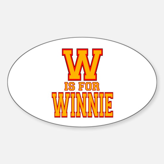 W is for Winnie Oval Decal