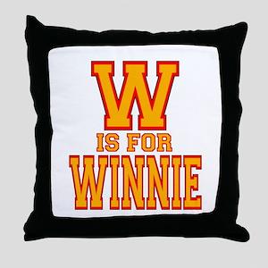 W is for Winnie Throw Pillow