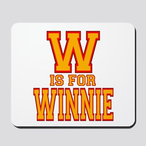 W is for Winnie Mousepad