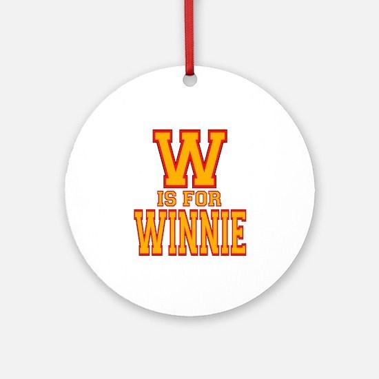 W is for Winnie Ornament (Round)