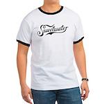 Sweetwater White/Black Ringer T