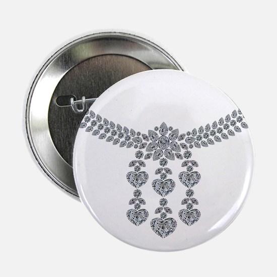 "Six Hearts Diamond Necklace 2.25"" Button"