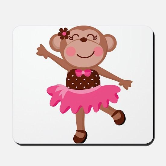 Monkey Ballerina Mousepad