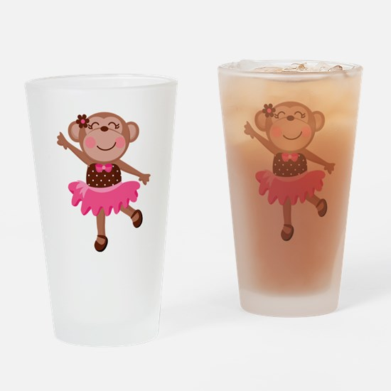 Monkey Ballerina Drinking Glass