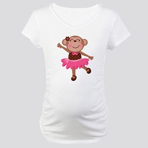 Monkey Ballerina Maternity T-Shirt