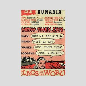 """Vintage Romania"" Rectangle Magnet"
