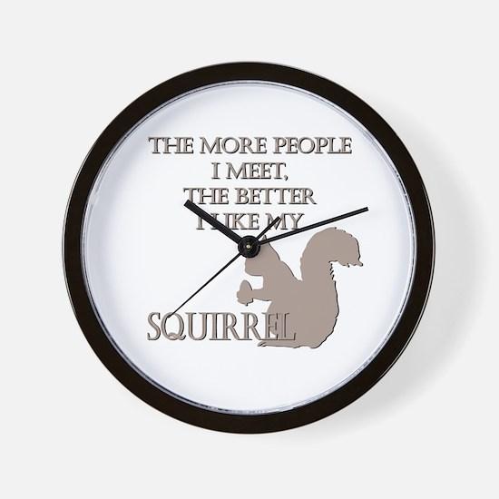Like My Squirrel Wall Clock