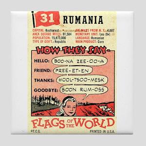 Vintage Romania Tile Coaster