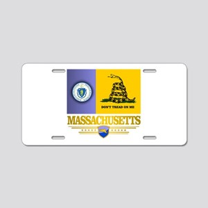 Massachusetts Gadsden Flag Aluminum License Plate