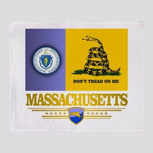 Massachusetts Gadsden Flag Throw Blanket