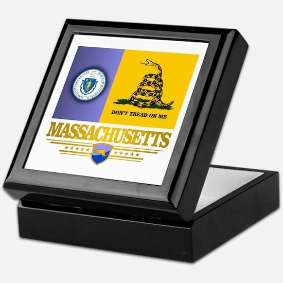 Massachusetts Gadsden Flag Keepsake Box
