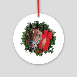 Horse Keepsake/Christmas Ornament (Round)