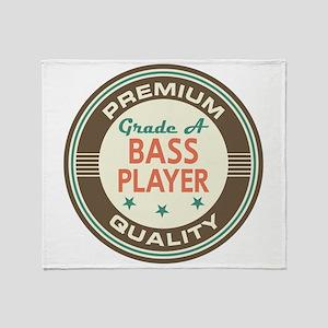 Bass Player Vintage Throw Blanket