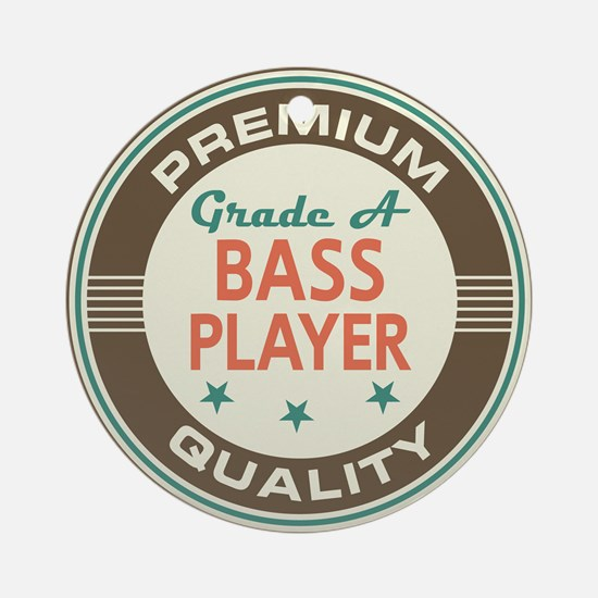 Bass Player Vintage Ornament (Round)