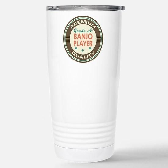 Banjo Player Vintage Stainless Steel Travel Mug