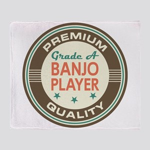 Banjo Player Vintage Throw Blanket