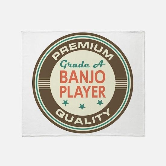Banjo Player Vintage Throw Blanket