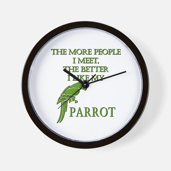 Like My Parrot Wall Clock