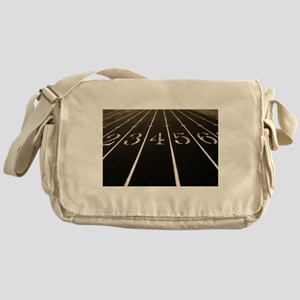 Race Track Numbers In Sepia Tone Messenger Bag