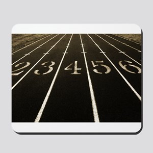 Race Track Numbers In Sepia Tone Mousepad